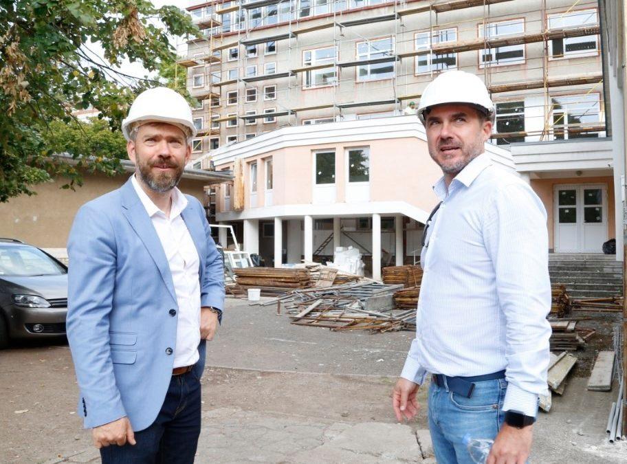 Jól halad a Bánki Donát Utcai Általános Iskola felújítása, az ütemterv szerint november végéreelkészül